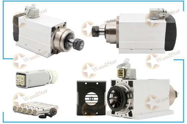 1.5kw ER20 Air Cooled Square Spindle Motor2