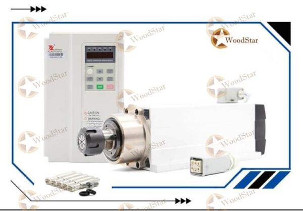 3.5kw ER25 Air Cooled Spindle Motor, VFD