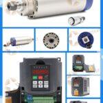 1.5kw Air cooled Spindle (ER16), VFD, Spindle bracket