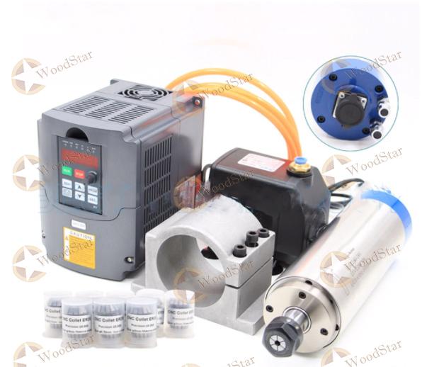2.2kw-water-cooled-spindle-VFD-Water-pump-Spindle-bracket
