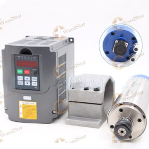 2.2kw CNC Water Cooled Spindle Motor, VFD, Spindle bracket