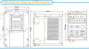 3.0kw ER20 water cooled spindle, VFD, water pump, spindle collets (11)