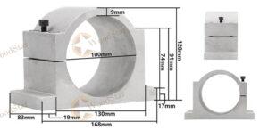 3.0kw ER20 water cooled spindle, VFD, water pump, spindle collets (14)