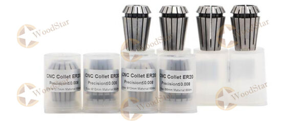 3.0kw ER20 water cooled spindle, VFD, water pump, spindle collets (26)