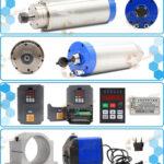 3.0kw ER20 water cooled spindle, VFD, water pump, spindle collets
