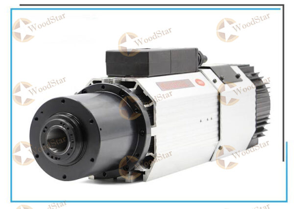 9.0kw Long axis air cooled spindle motor ceramic ball bearings
