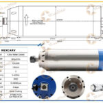 4.5kw ER20 CNC Water Cooled Spindle Motor