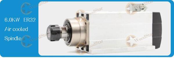 6.0kw ER32 300Hz Air Cooled Spindle Motor